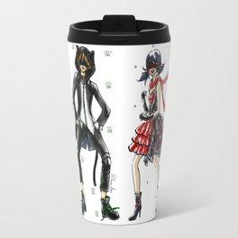 Ladybug and Cat Noir Inspired Fashion Illustration Travel Mug