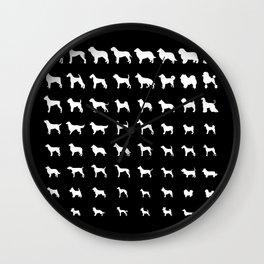 All Dogs (Black) Wall Clock