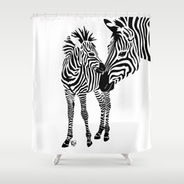 Love Stripes Two Shower Curtain