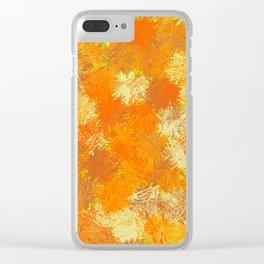 Pumpkin Tumbleweeds Clear iPhone Case