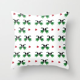 "Collection ""Love Birds"" impression ""Tropico Forest"" Throw Pillow"