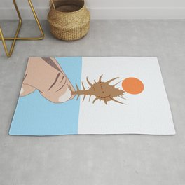 Sun On The Conch #illustration #drawing #shell Rug