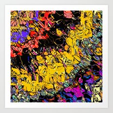 Shifting Shapes And Colors Art Print