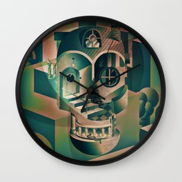 Utopia Skull 1 Wall Clock