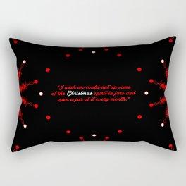 "I wish we... ""Harlan Miller"" Christmas Quote Rectangular Pillow"