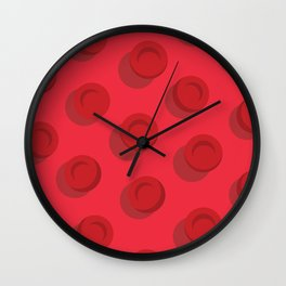 Red Blood Cells Wall Clock