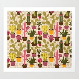 Cactus Cuties Art Print