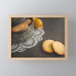 Home made Lemon Cookies Framed Mini Art Print