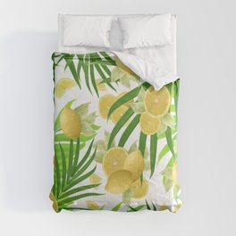 Summer Lemon Twist Jungle #2 #tropical #decor #art #society6 Comforters