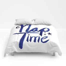Nap Time | Lazy Sleep Typography Comforters