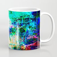 "hologram Mugs featuring "" The voice  is a second face"" by shiva camille"