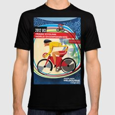 UCI Melbourne World Cycling Championships Poster with Text MEDIUM Black Mens Fitted Tee