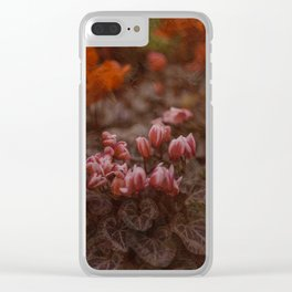 Flower Painting Clear iPhone Case
