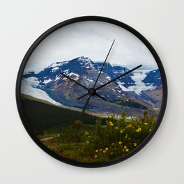 The Athabasca & Snow Dome Glaciers in Jasper National Park, Canada Wall Clock
