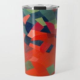 Grün-Rot Otto Freundlich 1939 Abstract Art Mid Century Modern Geometric Colorful Shapes Hard Edge Travel Mug