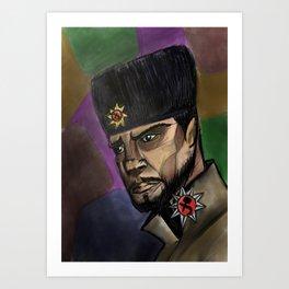 Soviet in Ushanka Art Print