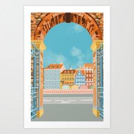 Copenhagen Travel Poster Art Print