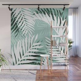 Tropical bliss - jungle green Wall Mural