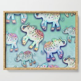 ELEPHANT PARTY MINT Serving Tray