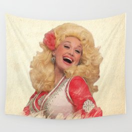 Dolly Parton - Watercolor Wall Tapestry