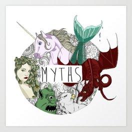 Myths Art Print