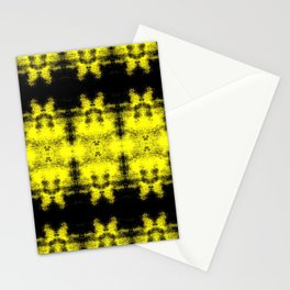Yellow Black Diamond Gothic Pattern Stationery Cards