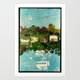 Landscapes c5 (35mm Double Exposure) Art Print