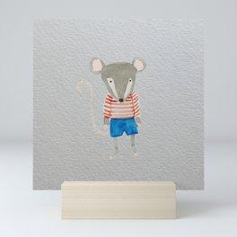 Shy Little Mouse Forest Friends Mini Art Print