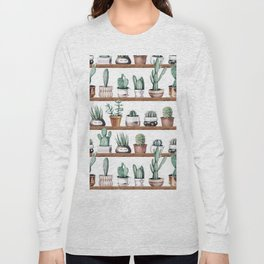 Cactus Shelf Rose Gold Green Long Sleeve T-shirt
