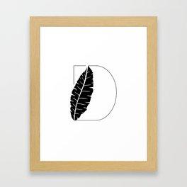 Palm D Framed Art Print