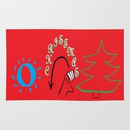 American Sign Language O Christmas Tree Rug