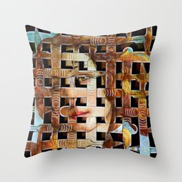 Facelift Throw Pillow