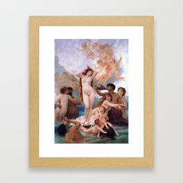The Birth of Venus by William Adolphe Bouguereau Framed Art Print
