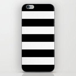 BLACK & WHITE STRIPES XL iPhone Skin