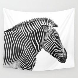 Zebra Photography   Animal Minimalism   Wildlife Art   Black and White Wall Tapestry
