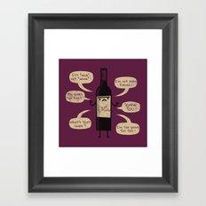 Stop Wine-ing ! Framed Art Print