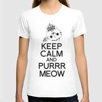exo T-shirts featuring Exo Cat : Keep Calm  And Purrr Meow! by The Gang of Fur