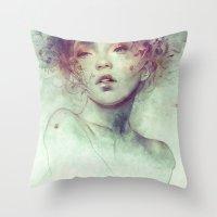 kpop Throw Pillows featuring Swarm by Anna Dittmann