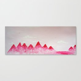 Pink Mountains Canvas Print