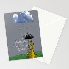 Raining Rainbow Dragon Stationery Cards