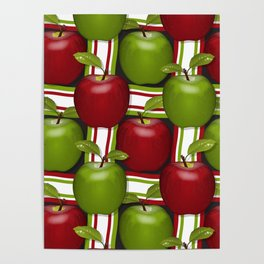 Apples Composition Poster