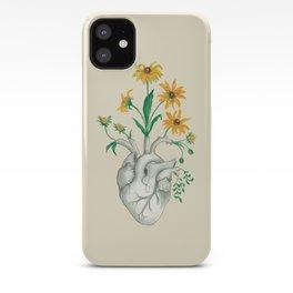 Floral Heart: Sunflower Human Anatomy Halloween Art iPhone Case