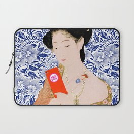 confused timeline with japanese lady Laptop Sleeve