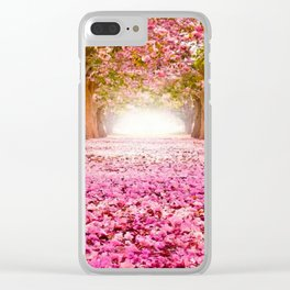 Romantic Flower Tunnel Clear iPhone Case