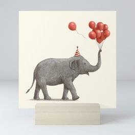 Party Elephant Mini Art Print