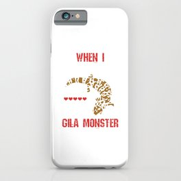 Alligator Herpetology Reptiles Cold Blooded Animal Gift When I Grow Up I Want To Be A Gila Monster iPhone Case