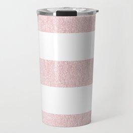 Simply Striped Rose Gold Palace Travel Mug