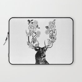 The Stag and Roses | Black and White Laptop Sleeve