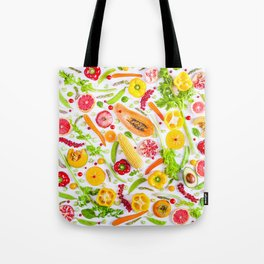 Fruits and vegetables pattern (31) Tote Bag