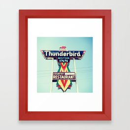 Thunderbird Motor Inn, South Carolina Framed Art Print